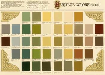 Heritage Color samples